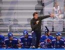 Главный тренер ХК СКА Олег Знарок (на первом плане)