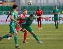 Игровой момент матча Уфа - Ахмат