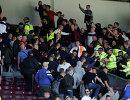 Фанатские беспорядки во время товарищеского футбольного матча между немецким Ганновером и английским Бернли