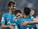 Футболисты Зенита Александр Ерохин, Далер Кузяев и Себастьян Дриусси (слева направо)