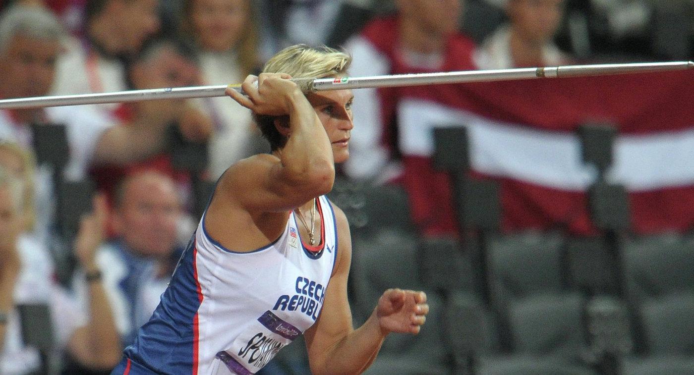 Чешка Шпотакова завоевала золото чемпионата мира полегкой атлетике вметании копья