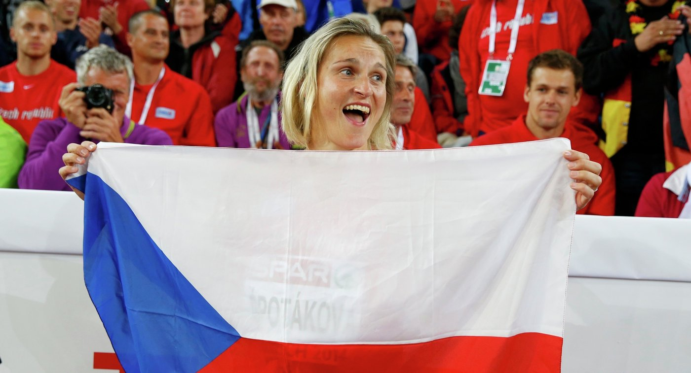 Чешская спортсменка Шпотакова завоевала золотоЧМ вметании копья