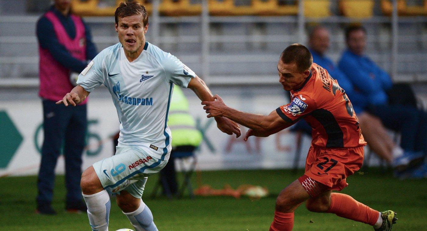 «Зенит» сыграл вничью с«Уралом» вновом чемпионате РФПЛ, впервый раз  утратив  очки