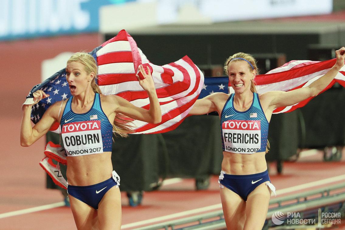 Эмма Кобёрн и Кортни Фрерикс (слева направо)