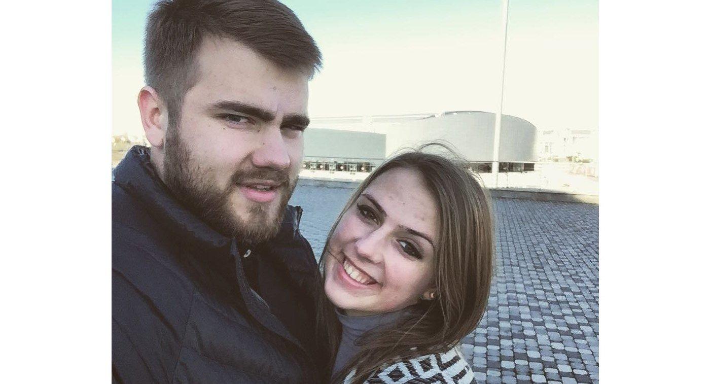 Российский метатель молота Валерий Пронкин и его девушка Анна