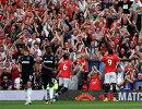 Футболисты Манчестер Юнайтед Поль Погба (слева) и Ромелу Лукаку