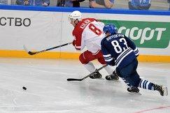 Игровой момент матча Витязь - Динамо (Москва)