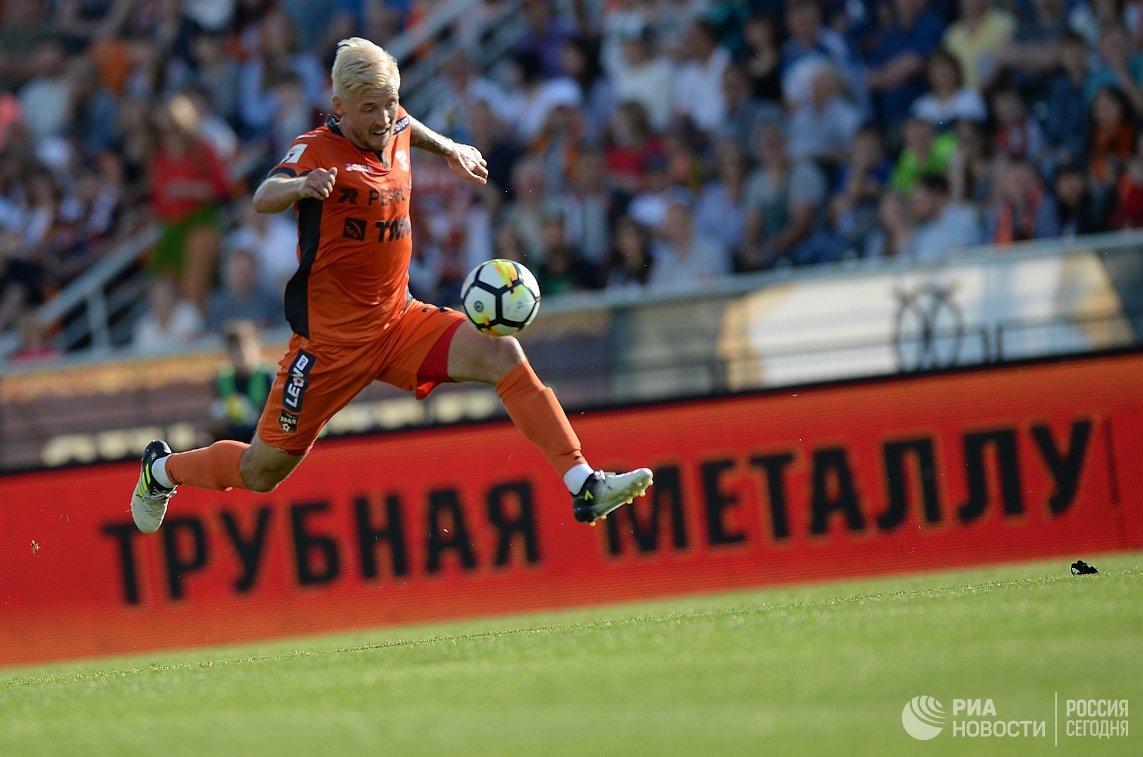 Игровой момент матча Урал - ЦСКА