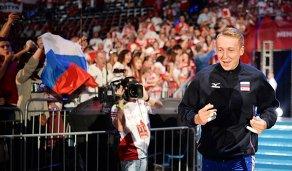 Алексей Спиридонов перед матчем чемпионата мира по волейболу