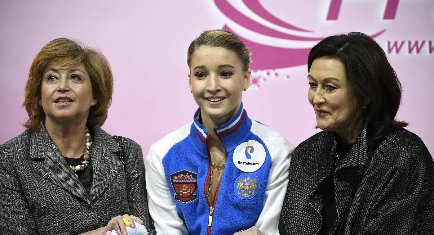 Русская фигуристка Погорилая поссорилась стренером после выступления наГран-при Канады