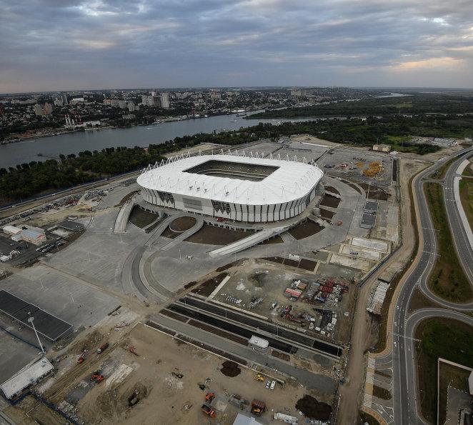 Строительство футбольного стадиона Ростов Арена в Ростове-на-Дону