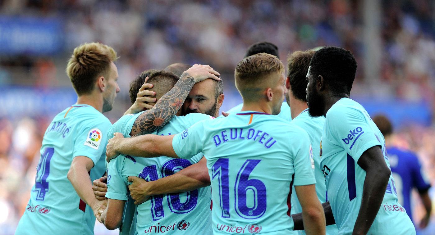 «Барселона» разгромила «Мурсию» вматче Кубка Испании пофутболу