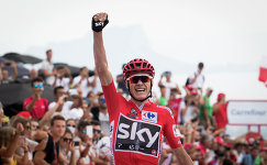 Британский велогонщик Крис Фрум из команды Sky
