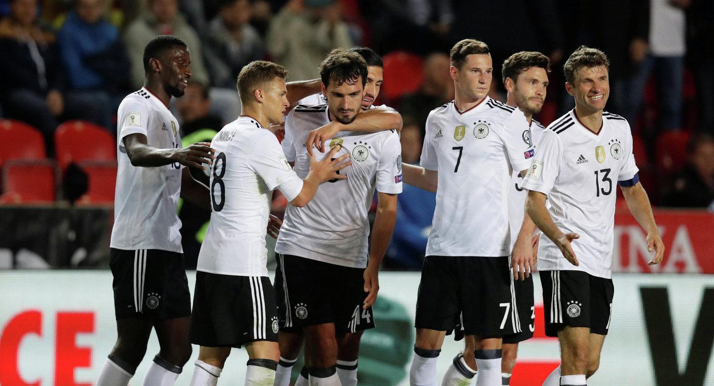 Сборная ФРГ продолжила победную серию вматчах квалификацииЧМ