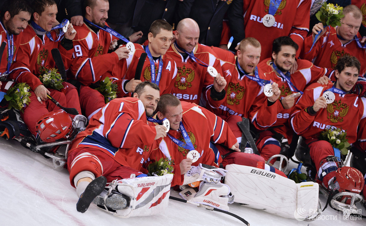 Игроки сборной России по следж-хоккею
