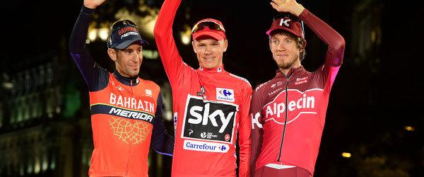 Винченцо Нибали, Крис Фрум и Ильнур Закарин (слева направо)