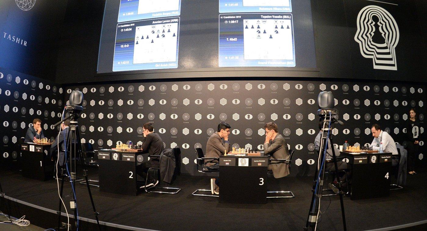 Шахматисты принимают участие в турнире претендентов на титул чемпиона мира