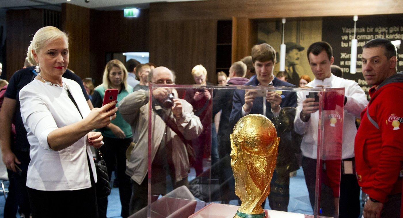 Представление кубка чемпионата мира 2018 в Красноярске