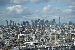 Вид на деловой центр Парижа