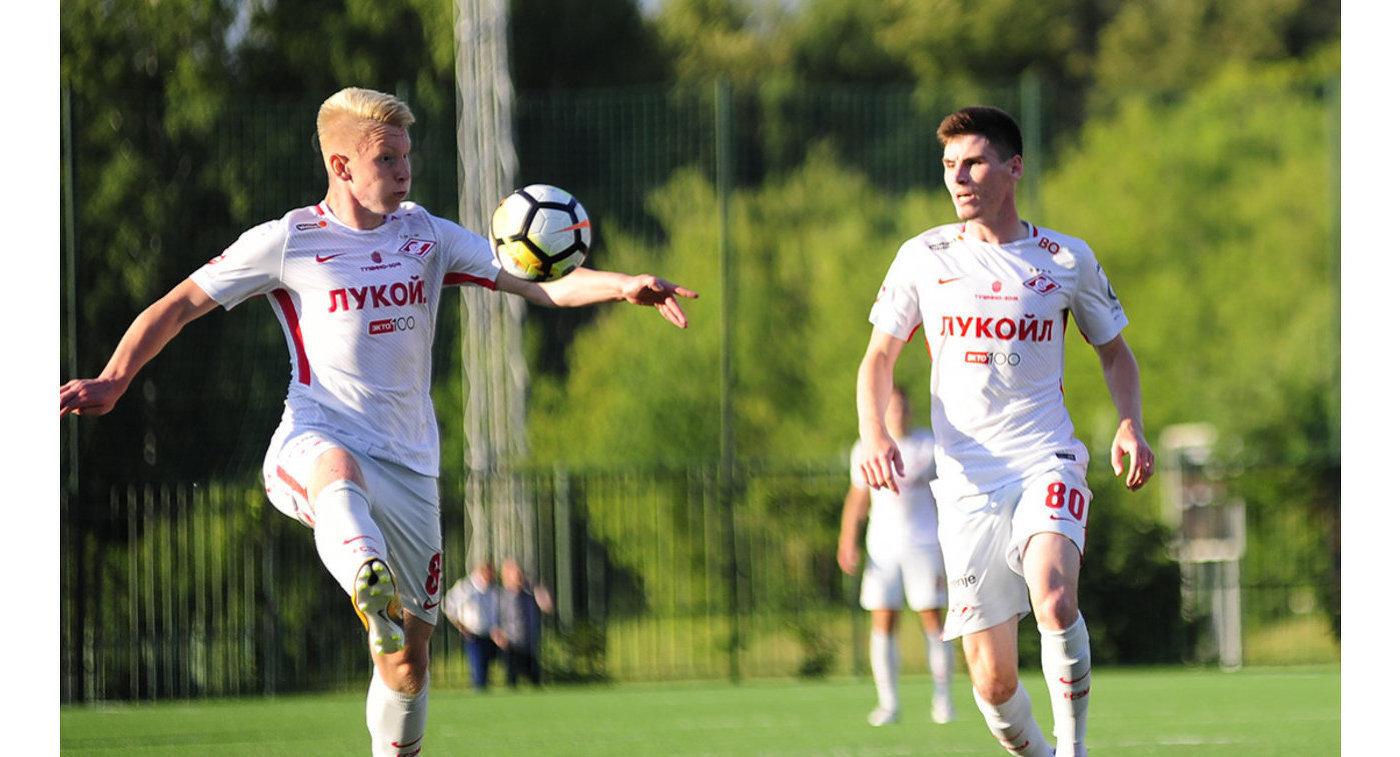 Футболисты молодежного Спартака