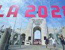 Логотип Олимпийских игр 2028 года в Лос-Анджелесе
