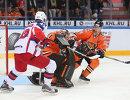 Игровой момент матча Амур - ЦСКА