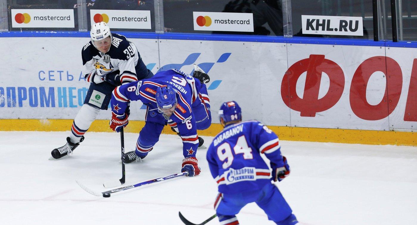 Игровой момент матча СКА- Металлург