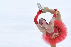 Российская фигуристка Алина Загитова во время победного выступления на турнире серии Челленджер Lombardia Trophy