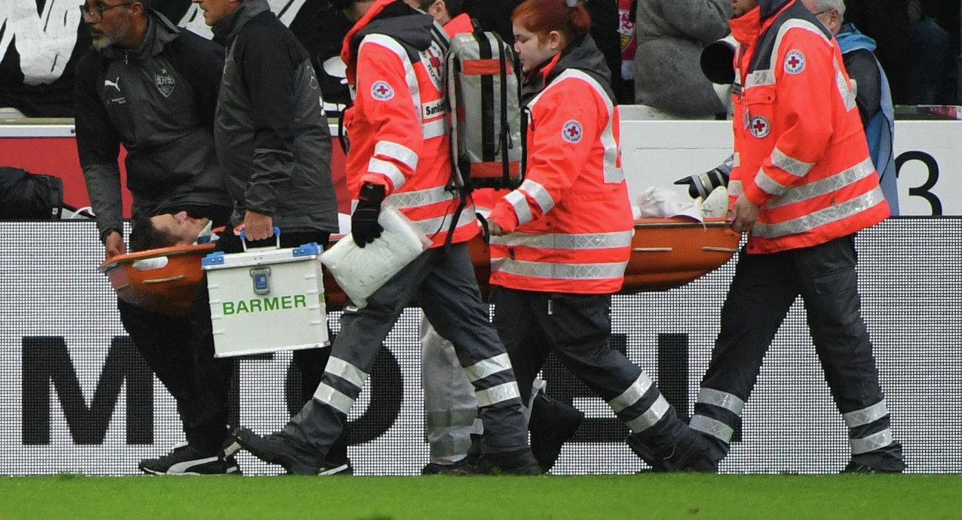 Капитан «Штутгарта» получил перелом лицевых костей встолкновении сголкипером