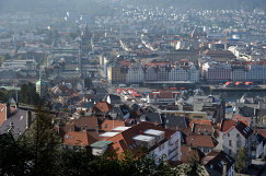 Вид на норвежский город Берген