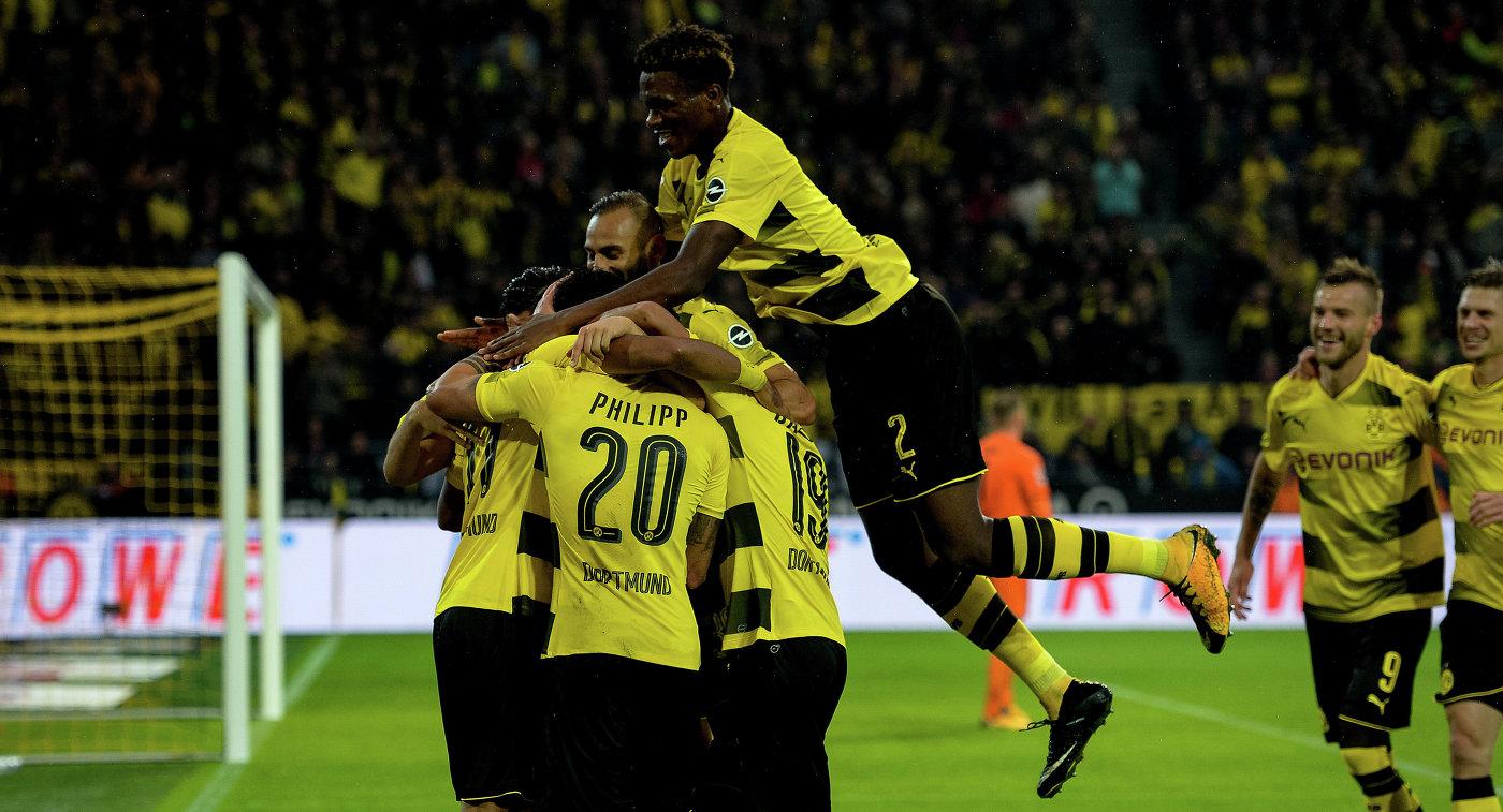 «Боруссия» забила 5 безответных мячей вворота «Кёльна» вматче чемпионата Германии