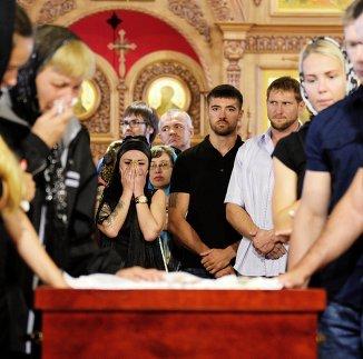 Прощание с погибшим чемпионом мира и Европы по пауэрлифтингу Андреем Драчевым в Хабаровске