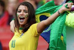 Болельщица сборной Бразилии
