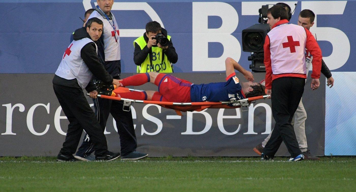 Обследование подтвердило, что футболист ЦСКА Фернандес получил сотрясение мозга