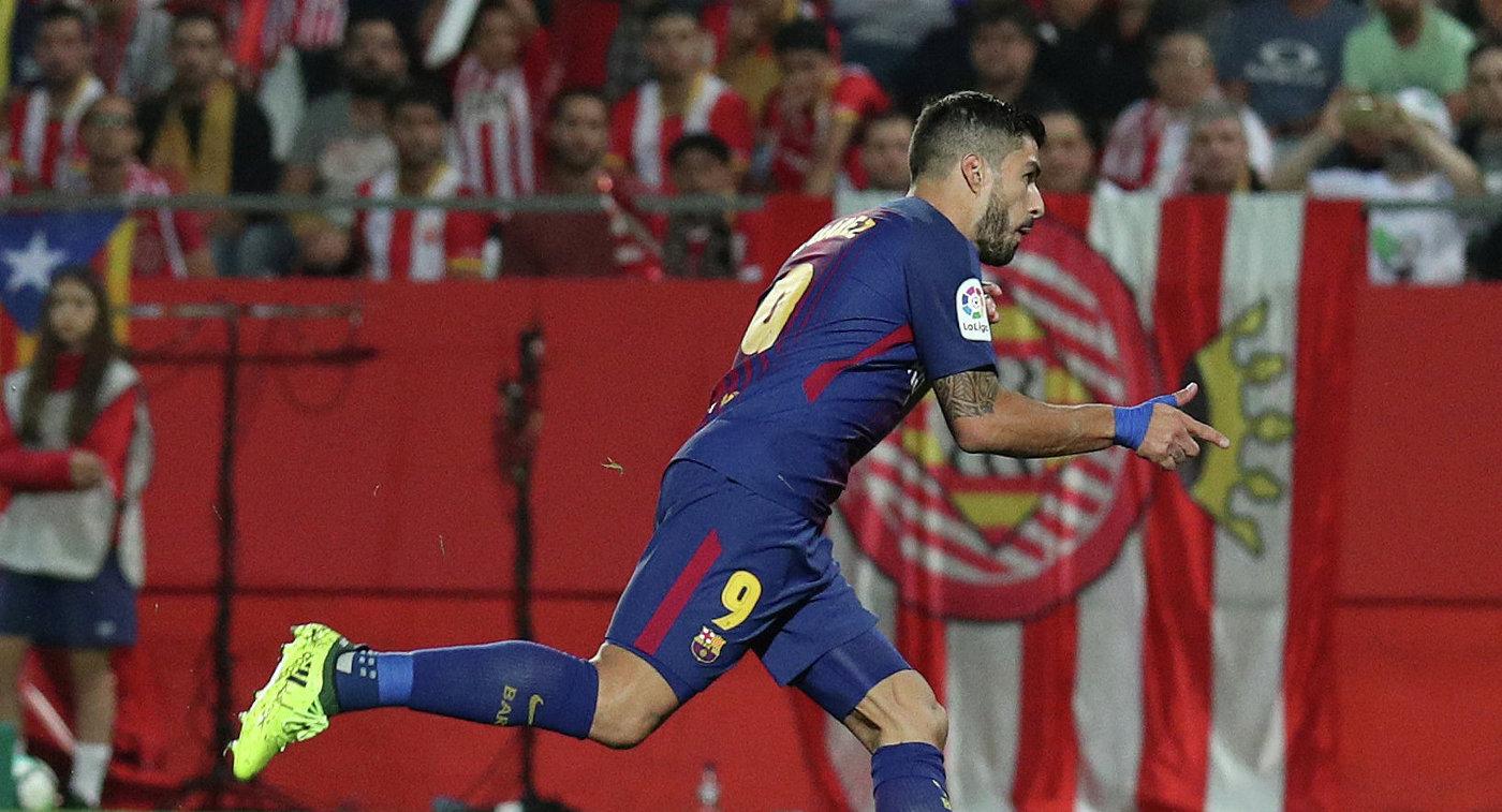 Нападающий испанской Барселоны Луис Суарес