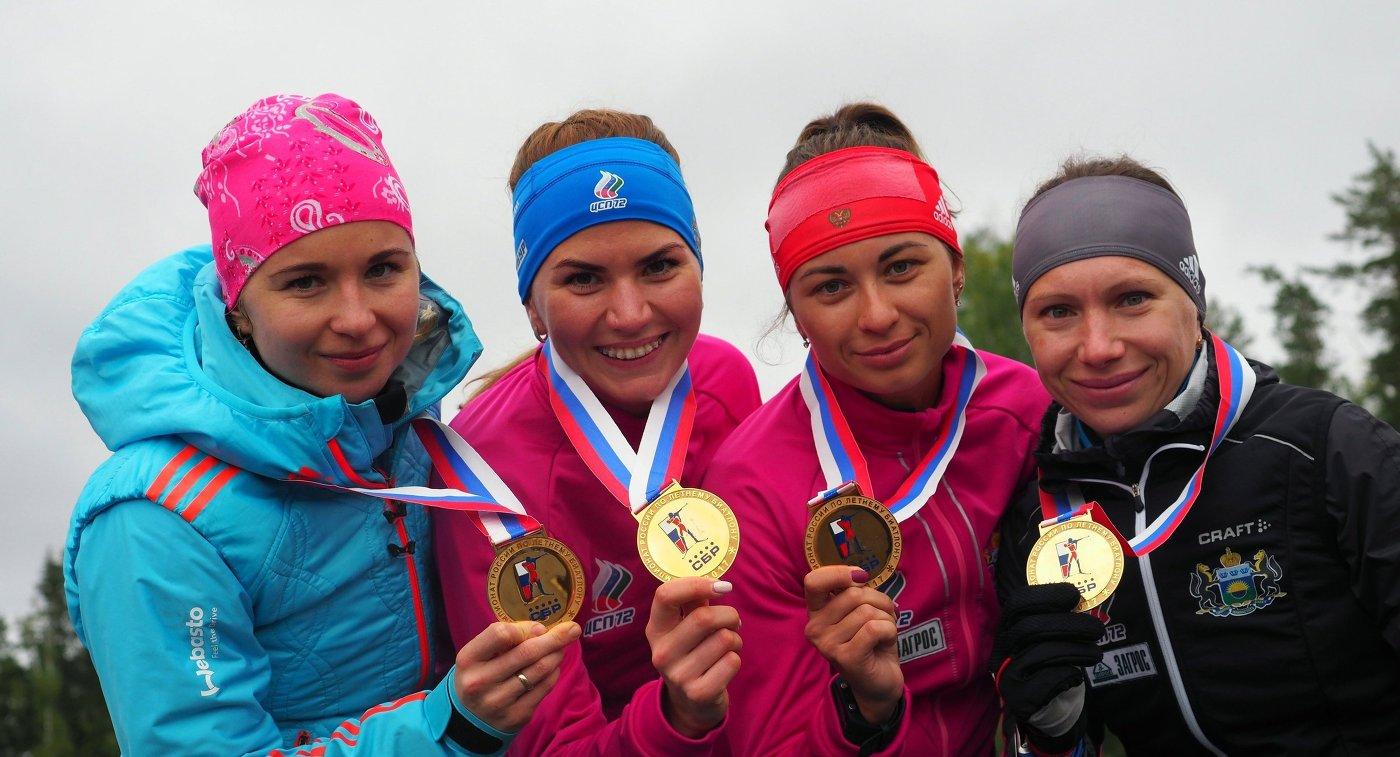 Наши взолоте. Югорчане выиграли эстафету наЧемпионате Российской Федерации полетнему биатлону