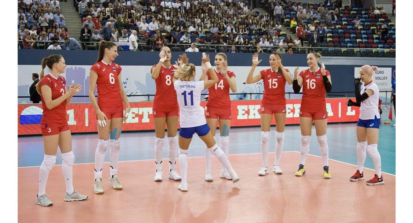 Россиянки обыграли украинок настарте чемпионата Европы поволейболу