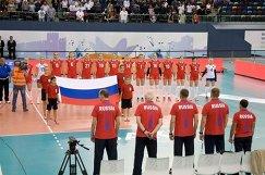 Волейболистки и тренерский штаб сборной России