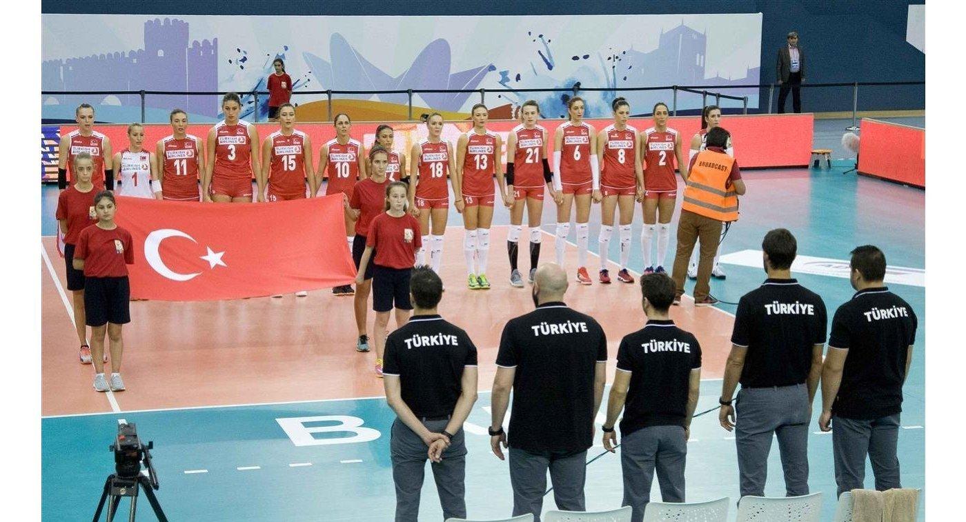 Волейболистки сборной Турции