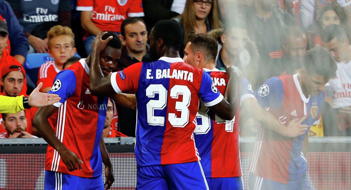 «Базель» разгромил «Бенфику» вматче группового этапа футбольной Лиги чемпионов