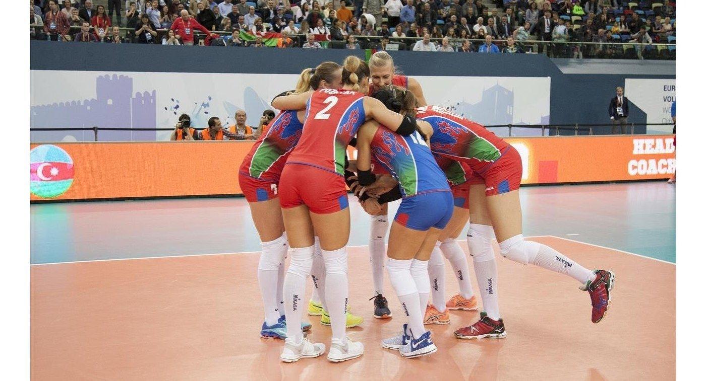 Азербайджанские волейболистки вышли вполуфинал ЧЕ-2017 встолице Азербайджана