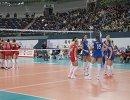 Волейболистки сборной России (справа)