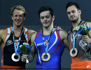 Голландец Эпке Зондерланд, хорват Тин Србич и голландец Барт Дёрло (слева направо)