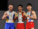 Украинец Игорь Радивилов, японец Кэндзо Сираи и южнокореец Ким Хансоль (слева направо)