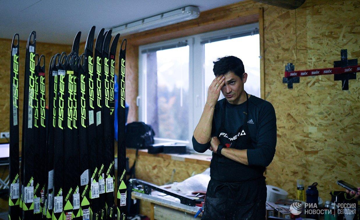 Сервисмен сборной России по лыжным гонкам Виктор Головин