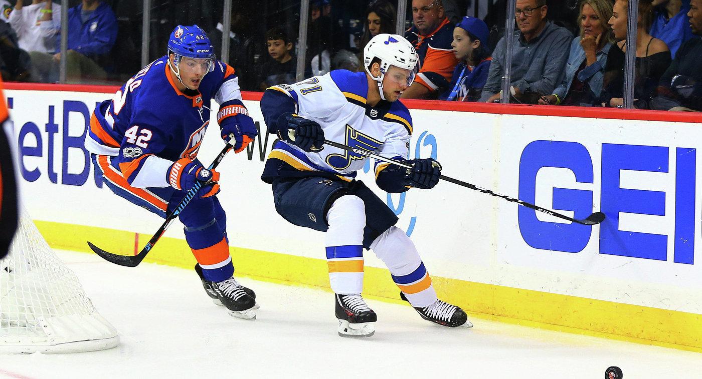Дубль ибуллит Тарасенко помогли «Сент-Луису» одолеть «Айлендерс» вматче НХЛ