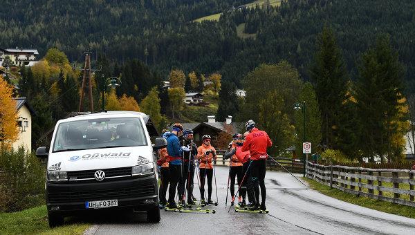 Тренировка российских лыжников группы тренера Маркуса Крамера в Австрии