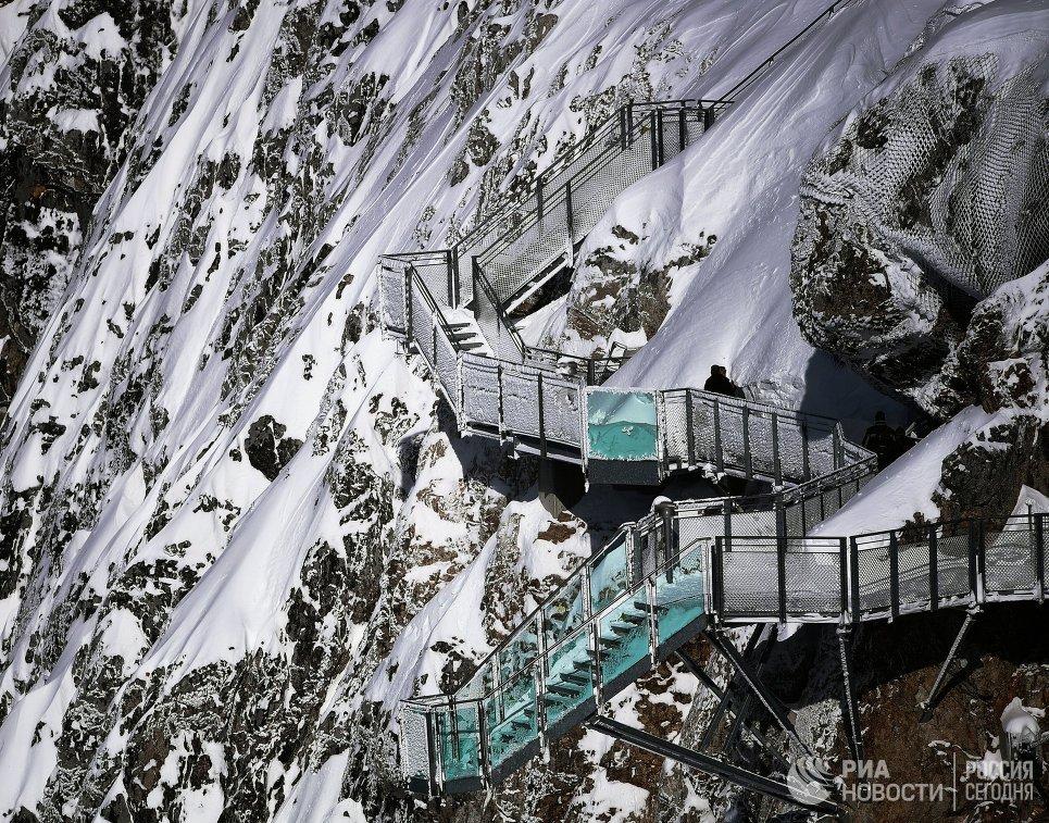 Пешеходный маршрут на леднике Дахштайн в Австрии