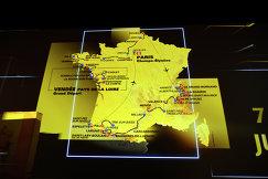 Карта маршрута Тур де Франс-2018