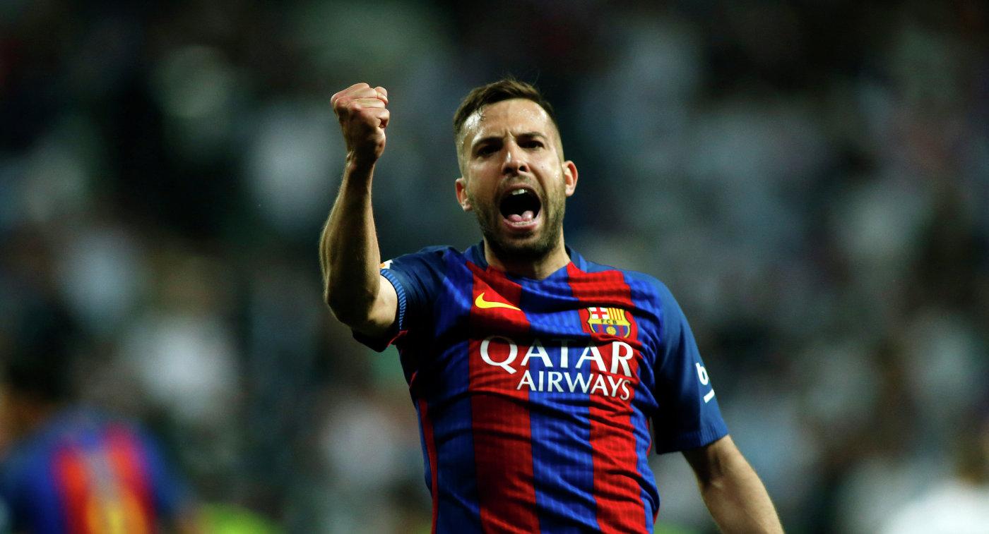 Защитник испанского футбольного клуба Барселона Жорди Альба